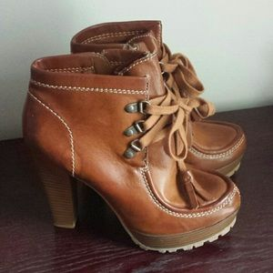 MIA Booties Brown Lace Up Size 6.5